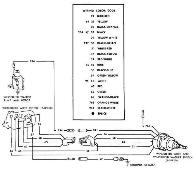 65 mustang wiper wiring diagram  wiring diagram loaddesign