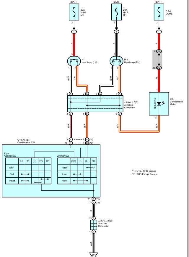 toyota hilux spotlight wiring diagram  automotive wiring
