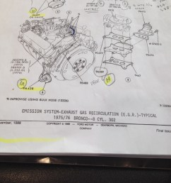 pic 1 came from the ford 74 thru 79 master parts catalog it appears that broncos from both 75 and 76 had the same vacuum routing  [ 768 x 1024 Pixel ]