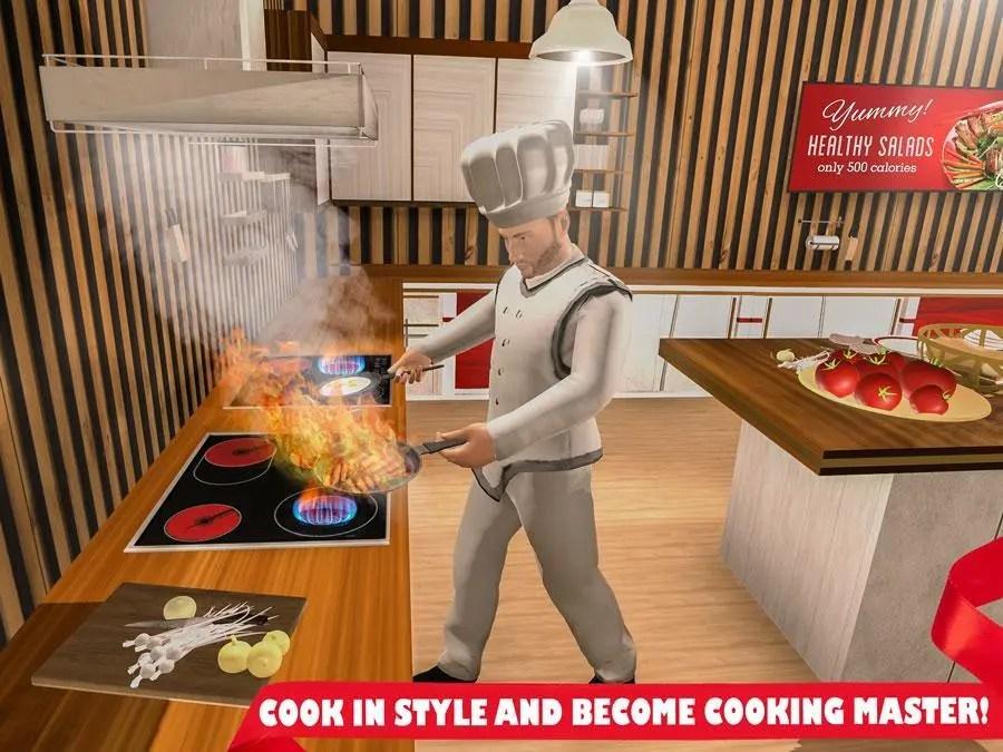 kitchen chief microwave cabinet 真正的烹饪游戏的3d虚拟厨房厨师 taptap 发现好游戏