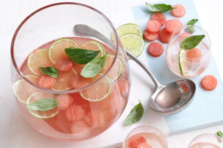 Vodka and watermelon punch