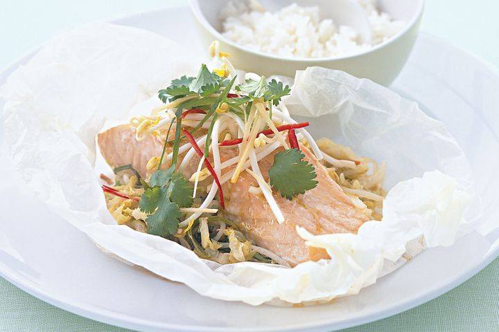 Asianstyle Baked Salmon Parcels