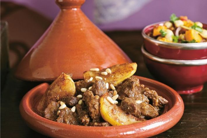Beef and pear tagine