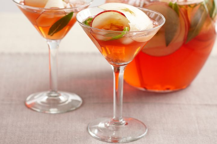 Apple, campari and mint punch
