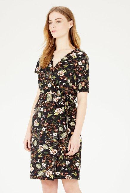 Warehouse Dark Floral Dress