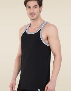 Jockey black  grey melange fashion power vest also buy for men rh tatacliq