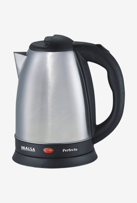Inalsa Perfecto 1.5L 1500 W Electric Kettle (Silver/Black)
