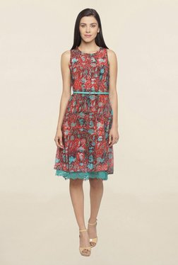 Mineral Red Printed Dress