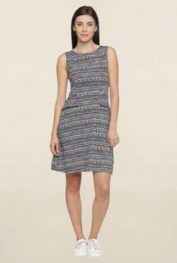 Mineral Black & White Printed Dress