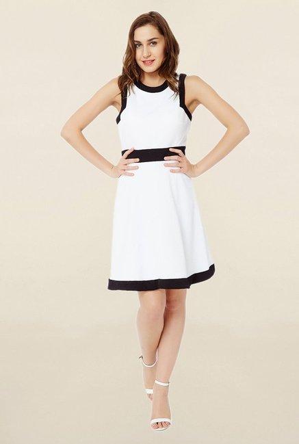 Avirate White Knee Length Dress