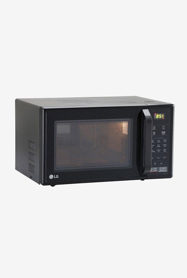 lg mc2146bg 21l convection microwave oven black