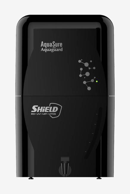 Eureka Forbes Aquasure Shield 6 L RO + UV + MP + MTDS Water Purifier (Black)