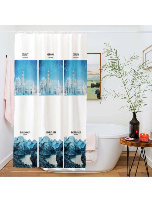 story home white shower curtain set of 1