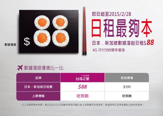 臺灣之星數據漫遊吃到飽,每日 88 元   TechNews 科技新報