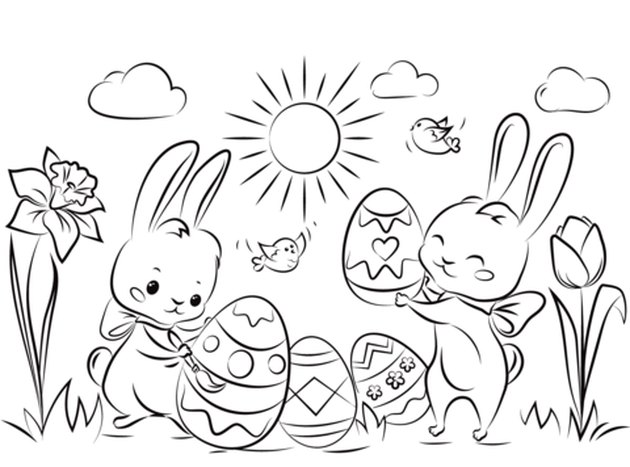 Easter Coloring Pages to Print at Home for the Kiddos
