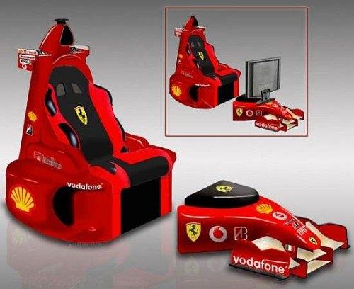 Espectacular silla Ferrari de F1