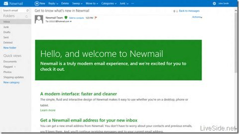 Hola a Newmail y adiós a Hotmail