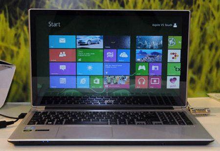 Acer Aspire V5 Touch, nueva laptop con Windows 8