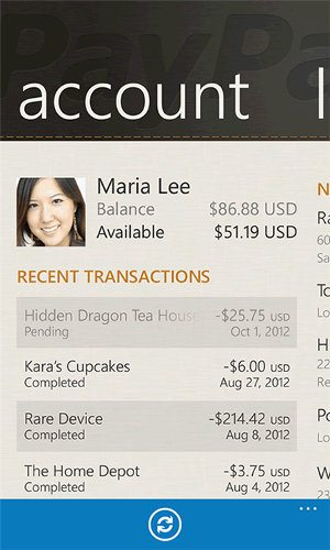 PayPal llega a Windows Phone