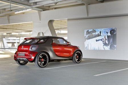 Smart Forstars, el auto que fuciona como proyector de películas