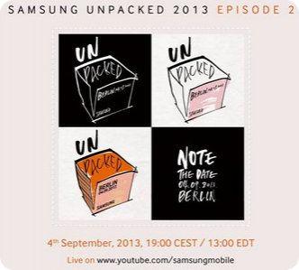 El Galaxy Note III será presentado el 04 de septiembre