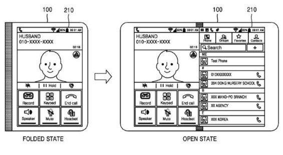 Samsung una patente revela un smartphone que se convierte en tablet