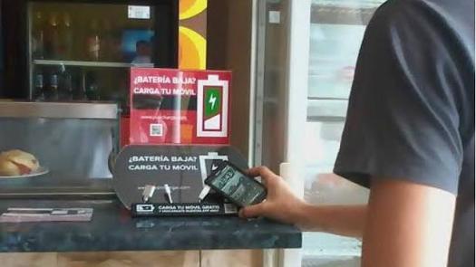 cargar tu celular en lugares públicos