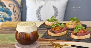 【北投明德站咖啡廳】穠咖啡 Nong coffee roaster 特調咖啡,美味輕食普切塔