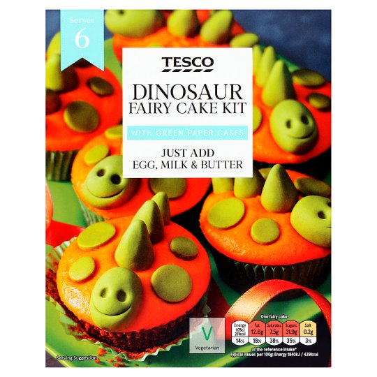Tesco Dinosaur Fairy Cake Kit 255g Tesco Groceries