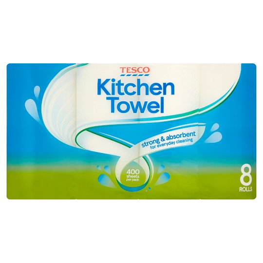 towel for kitchen outdoor bbq tesco white 8 roll groceries