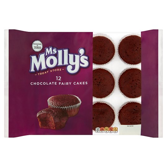 Ms Mollys Chocolate Fairy Cakes 12 Pack Tesco Groceries