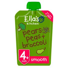 ellas kitchen baby food window treatments for pouches tesco groceries broccoli pear and peas puree 120g