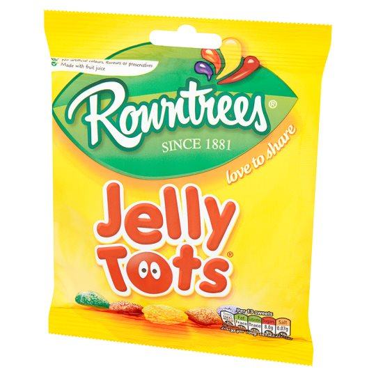 Rowntrees Jelly Tots Bag 160G Groceries Tesco Groceries