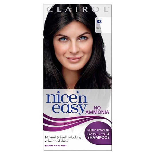 nice n easy hair dye nice and easy lasting color black 83