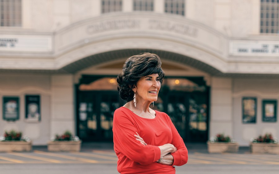 Mary McCoy in front of the Crighton Theatre, in downtown Conroe, on June 21, 2021.