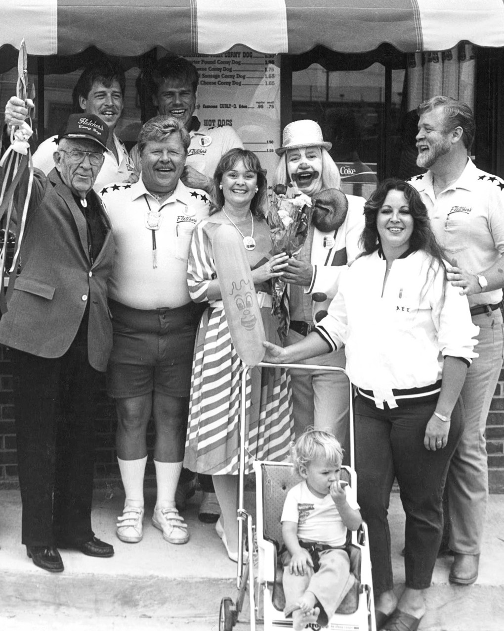 Fletcher family at store opening in the 1980's