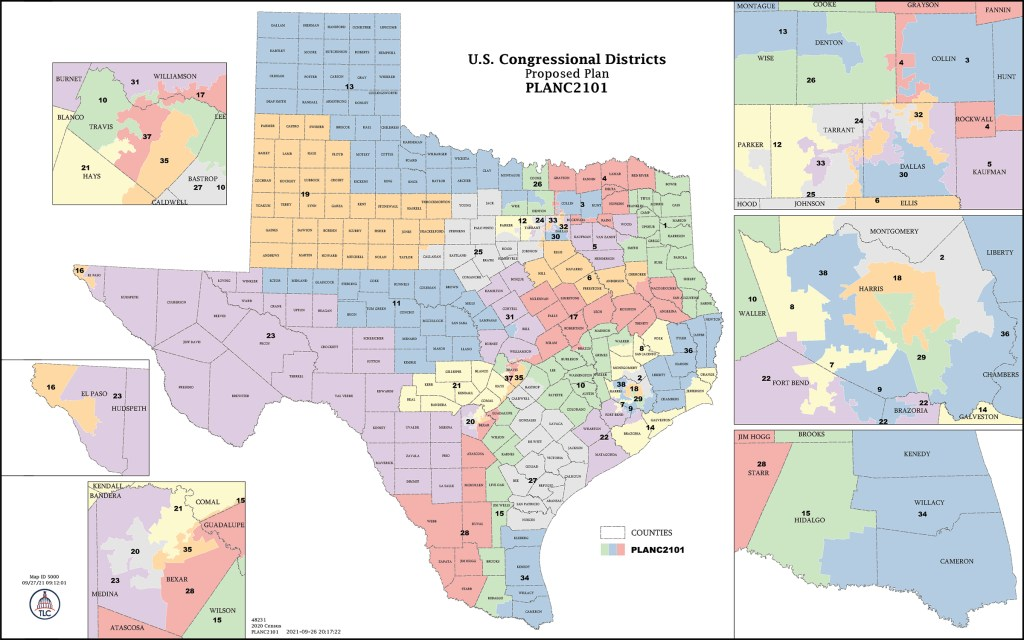Due to its vast size, texas contains diverse landscapes ranging from the fertile coastal plains in the southeast to the high mountains and plains in the northwest and western region of the state. Explaining The Most Bizarrely Shaped Districts In Texas S Proposed Congressional Map Texas Monthly