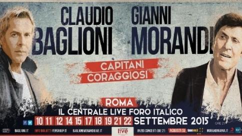 Claudio Baglioni e Gianni Morandi: 10 concerti insieme a Roma