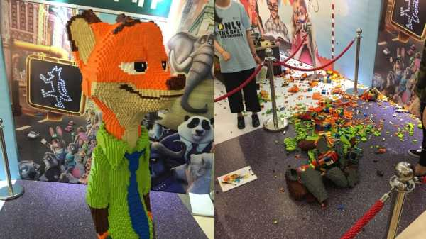 000 Lego Sculpture Unveiled In China. Kid Promptly