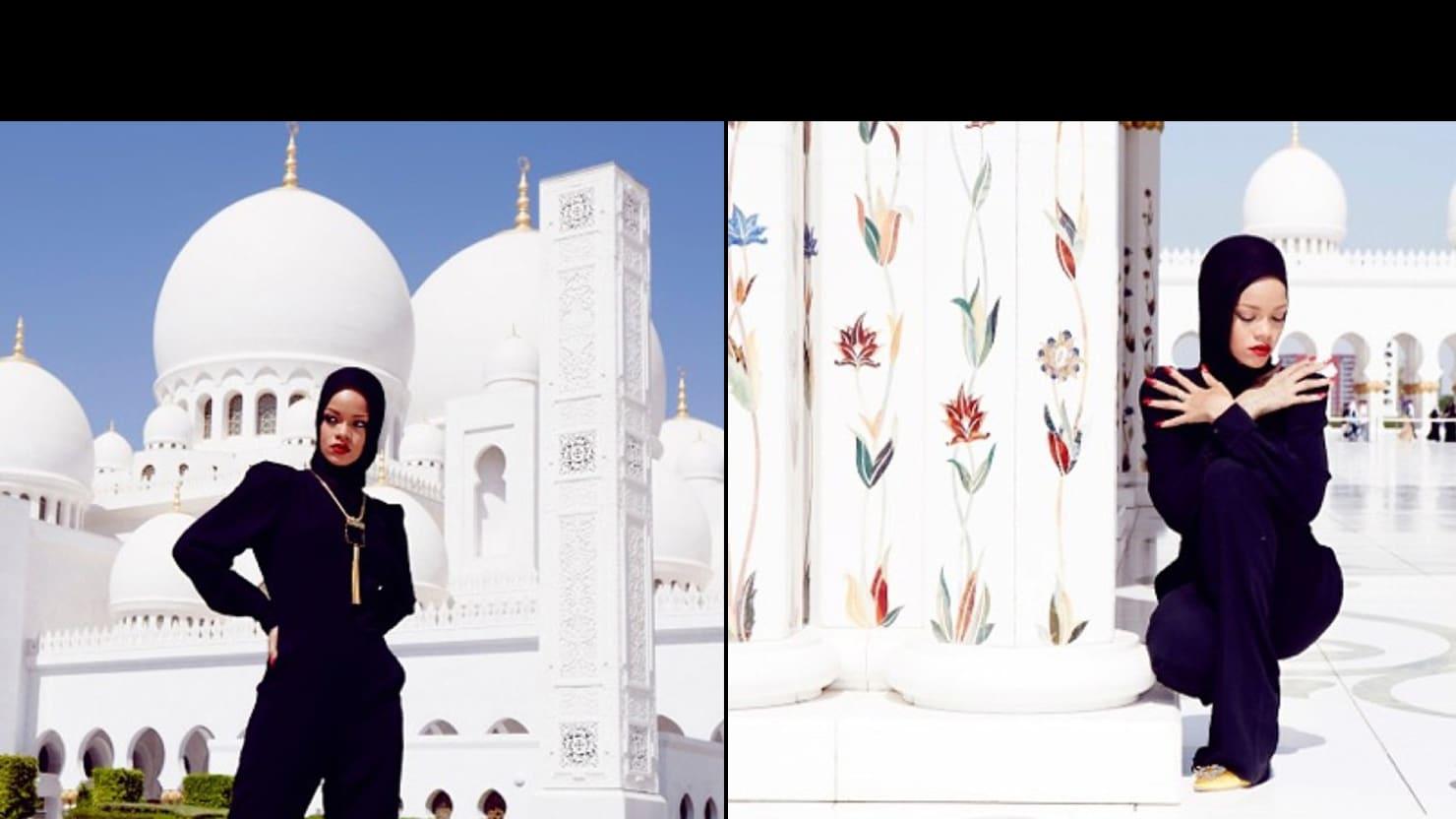 Rihanna Gets Turned Away From Abu Dhabi Mosque Prince