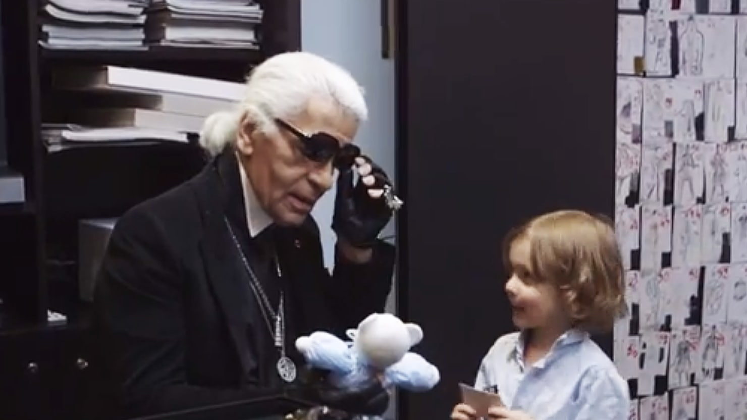 Karl Lagerfeld Shows His Paternal Side in Carine Roitfeld