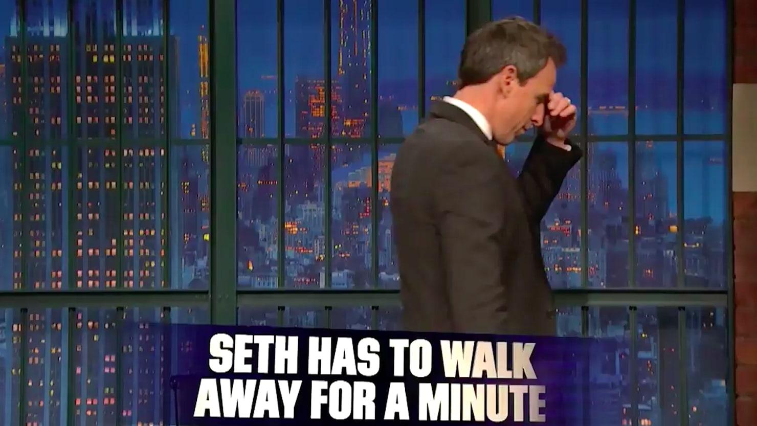 Seth Meyers Walks Off Set After Trumps Shithole
