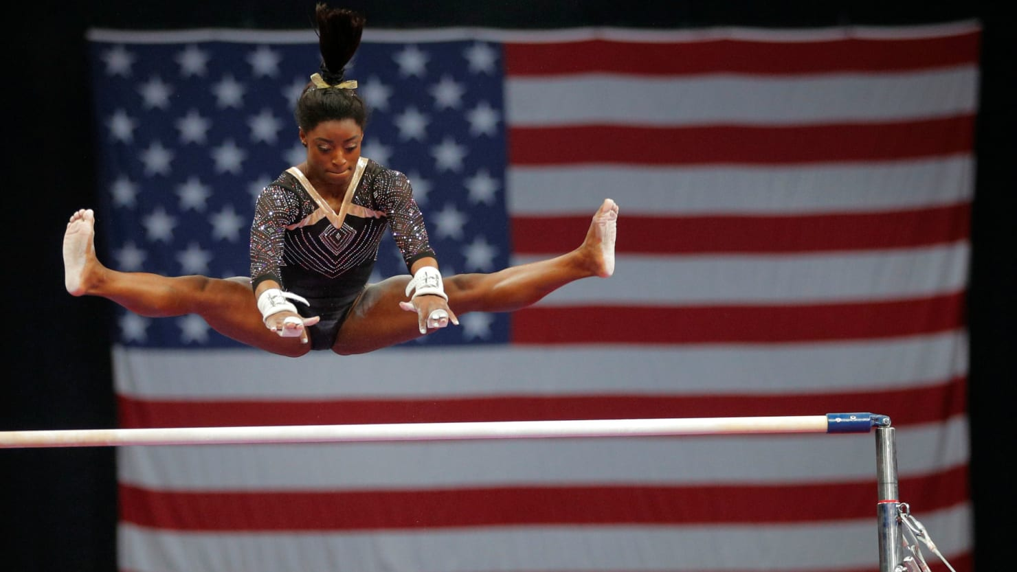 Simone Biles Stuns In First Day Back To US Gymnastics Championships The Daily Beast