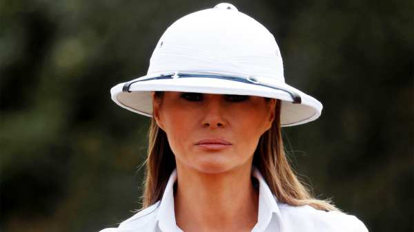 Melania Trump Criticized Wearing Colonial-era Hat In Kenya