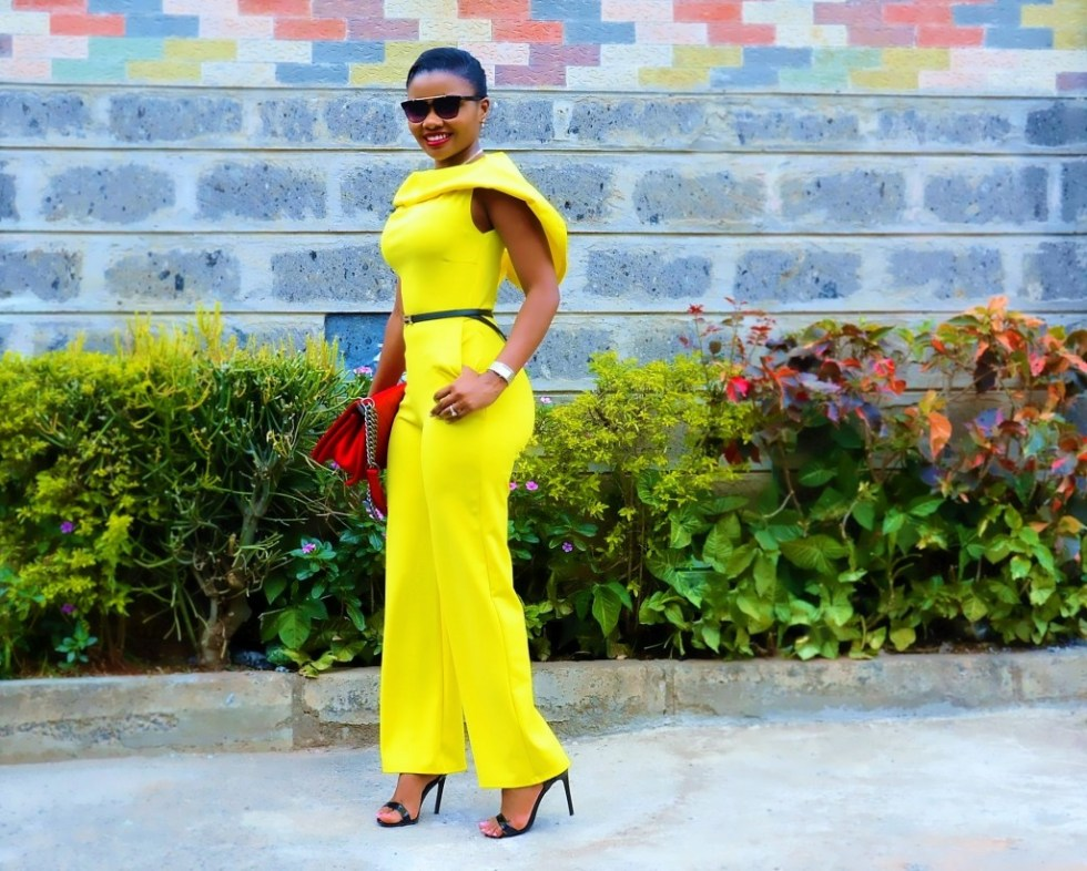 yellow jumpsuit outfit