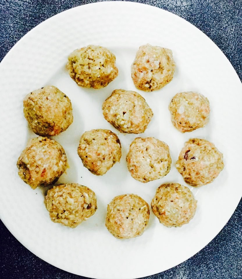tossed baby potatoes with meatballs recipe