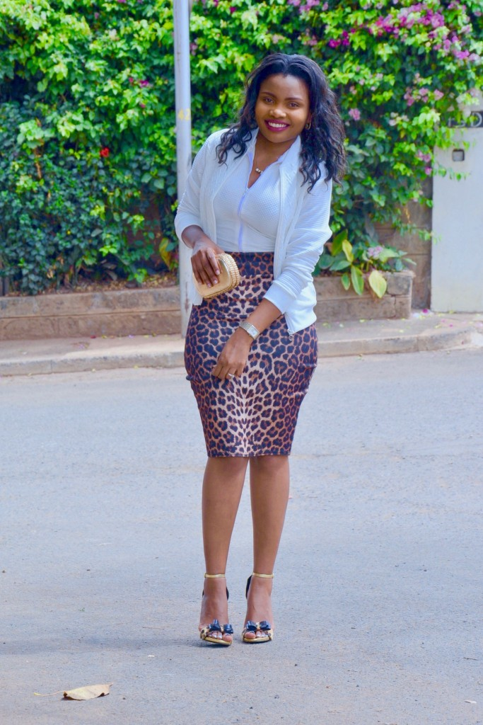 white-bomber-jacket-with-animal-print-skirt