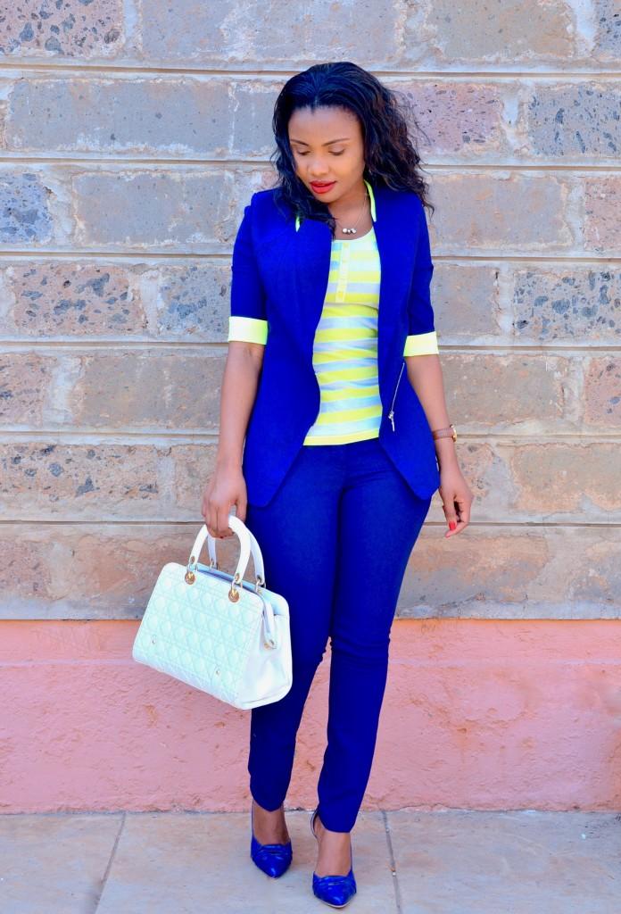 blue pantsuit outfit 1