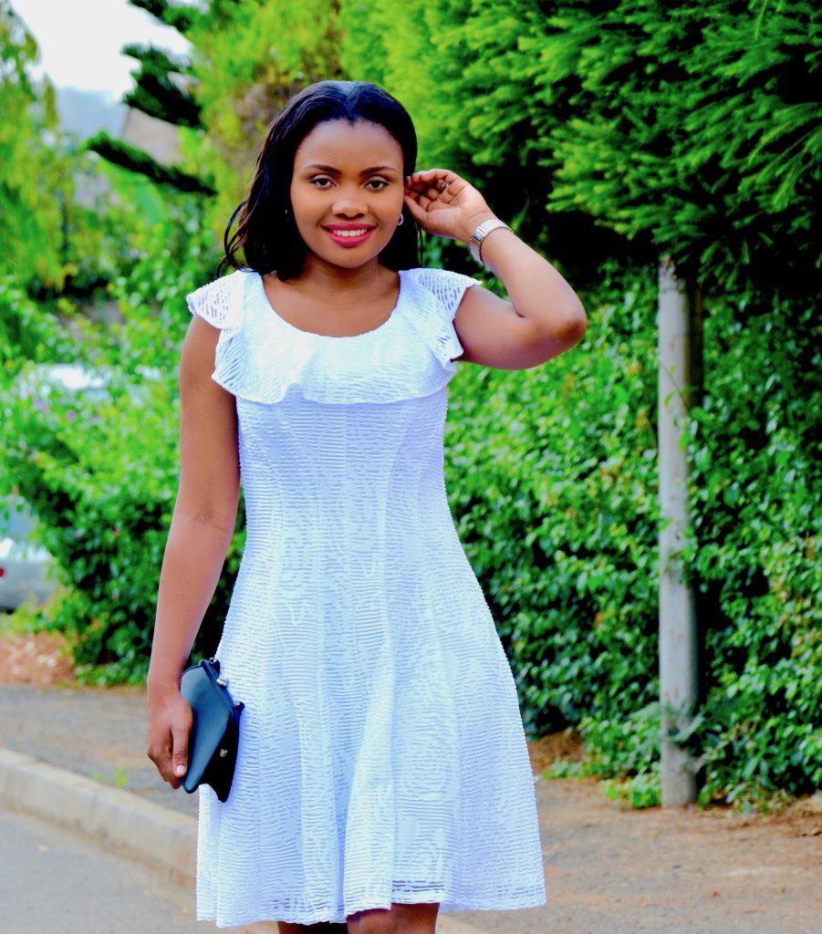 Figurestyle boutique white dress