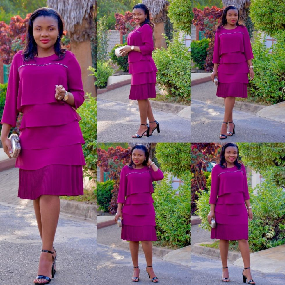 purple holiday look dress